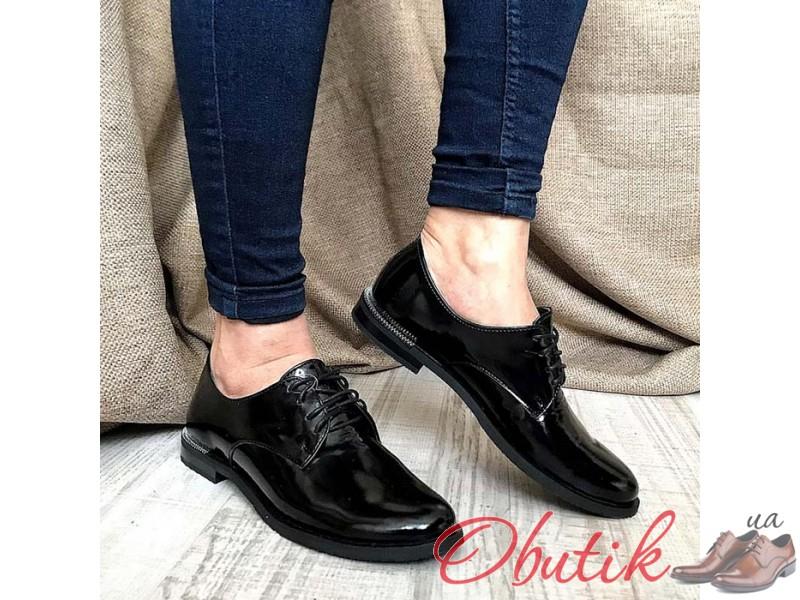 1fc1b29a6 Obutik - Женские туфли AVK без каблука лаковая кожа черные серые ...