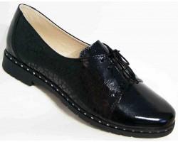 Туфли женские кожа большие размеры черные MD0025