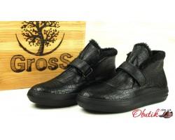 Ботинки мужские зимние кожа черные Uk0462