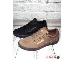 Туфли мужские Columbia нубук черные, бежевые C0027