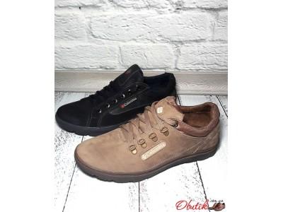 Туфли мужские Columbia натуральный нубук черные, бежевые C0027