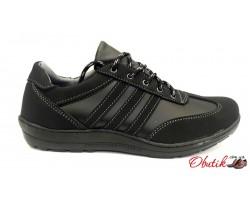 Кроссовки-туфли мужские черные KF0158