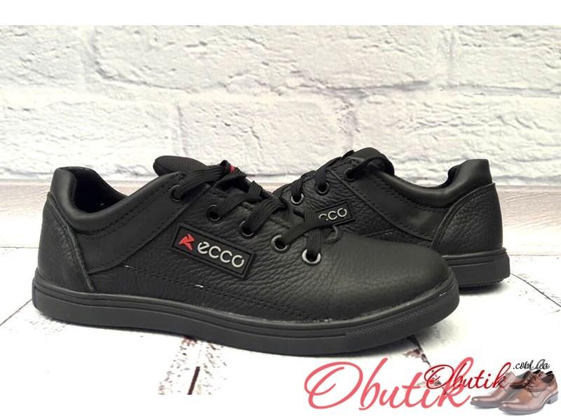 622ac67dd7ce8a Obutik - Купить туфли подростковые Ecco на шнурках кожа черные ...