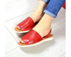 Босоножки женские кожаные без каблука цвета разные TOPs0021
