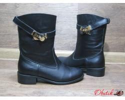 Ботинки женские высокие осенние зимние кожа замша Uk0039