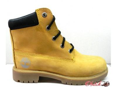 Ботинки демисезонные подростковые Timberland нубук желтые T0020-2