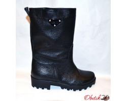 Ботинки-полусапоги женские высокие осенние Украина кожа Uk0051
