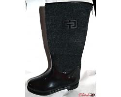 Женские стильные резиновые сапоги Givehchy Украина черные Uk0132