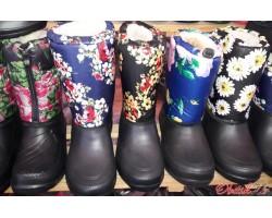 Женские резиновые сапоги-дутики Украина разные цвета Uk0137