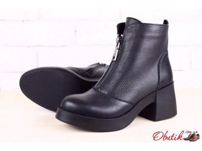Ботинки женские осень-весна зима кожа замша на толстом каблуке NK0011