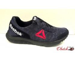 Кроссовки мужские Reebok летние верх сетка черные Re0003