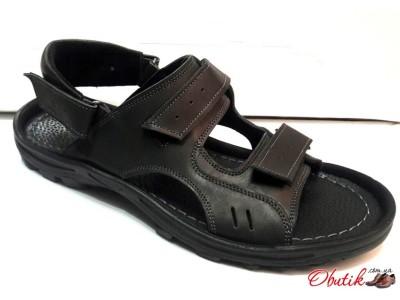 Босоножки мужские кожаные черные Uk0254
