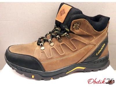 Ботинки мужские зимние Columbia кожаные черные коричневые C0005