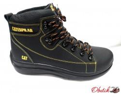 Ботинки мужские зимние Cat кожа черные коричневые Ca0001