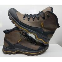 Ботинки мужские зимние натуральная кожа нубук чёрные, синие, коричневые Uk0317