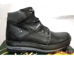 Ботинки мужские зимние Comfort кожа черные Uk0155