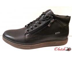 Ботинки зимние мужские кожаные Maraton черные Mar0009