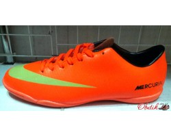 Кроссовки футбольные - футзалки оранжевые Nike NI0086