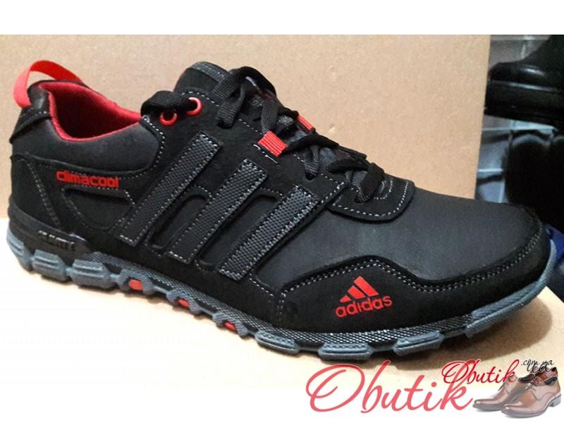 09ef2cb6 Obutik - Кроссовки мужские осень-весна Adidas кожаные черные AD0028 ...