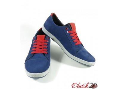 e423a859121e Obutik - Мужские туфли-кеды Tommy Hilfiger натуральный нубук синие ...