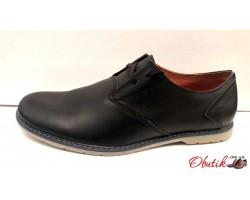 Мужские кожаные туфли чёрные Broni B0037