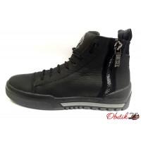 Ботинки мужские Diesel зимние кожа черные Uk0457