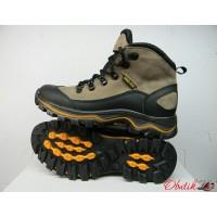 Ботинки подростковые Ecco зимние кожаные черные и бежевые E0009
