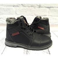 Ботинки подростковые зимние кожаные на замочке Uk0085