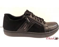 Туфли-слипоны мужские натуральная кожа замша Uk0322