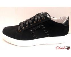 Туфли-слипоны мужские натуральная замша Uk0321