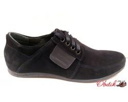 Туфли мужские кожаные замшевые Vankristi VK0002